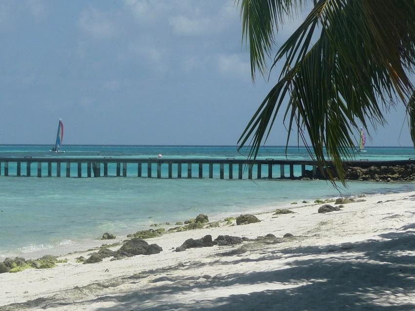 Beach and jetty Club Med Kani.JPG