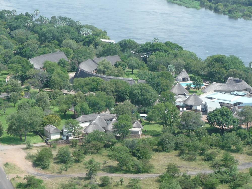 Closeup of aZambezi River Lodge from air.JPG