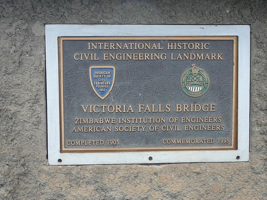 Sign Victoria Falls Bridge Completed 1905.JPG