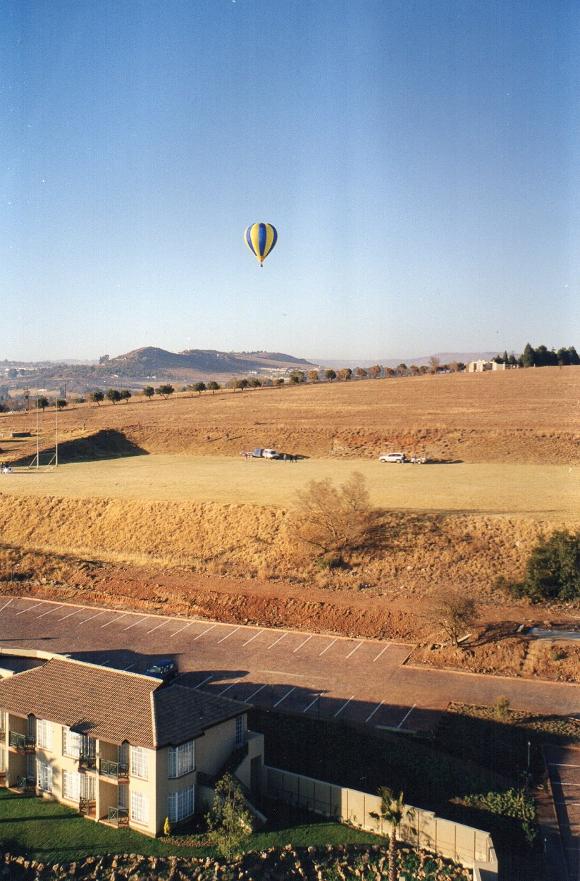 The smaller balloon and basket were more fortunate and traveled a bit further