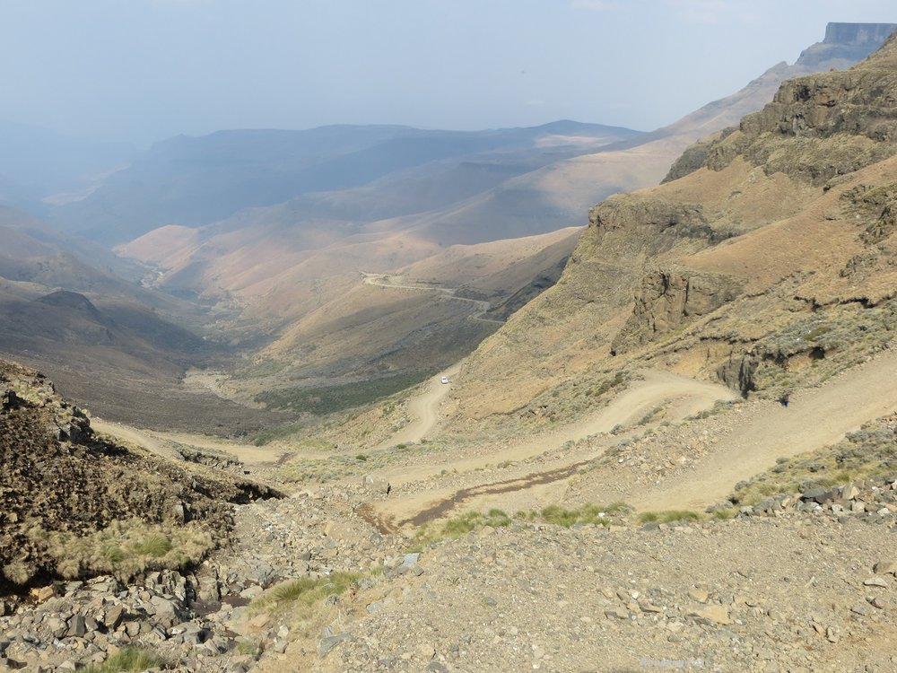 Winding up or down the Sani Pass