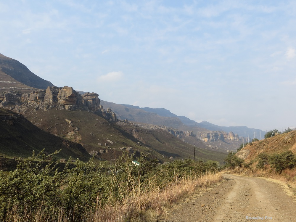Near South African border post Sani Pass