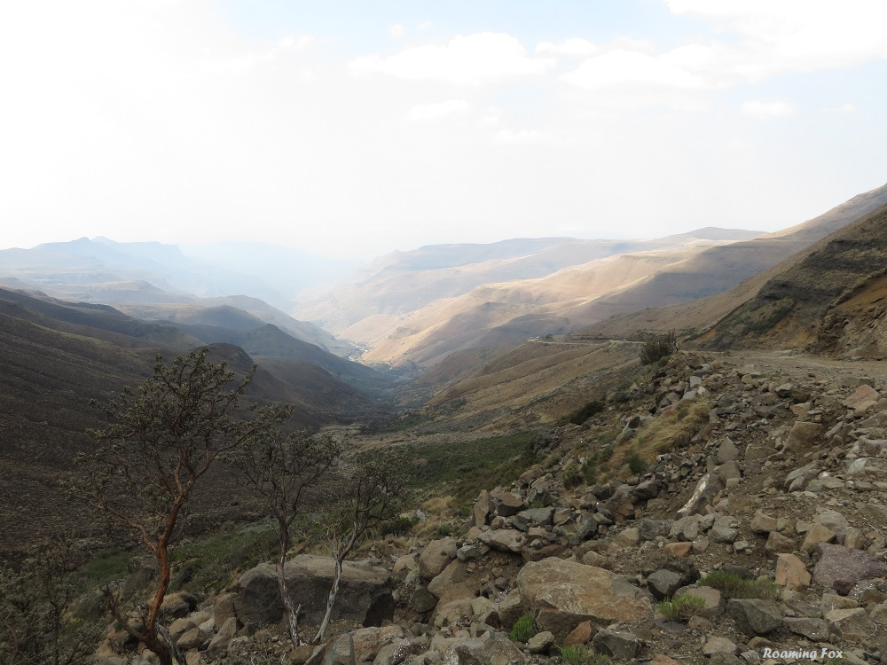 The valley towards South Africa Sani Pass.JPG