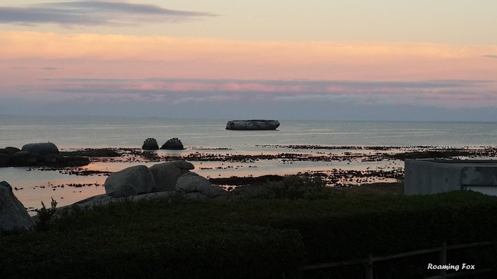 Pastel colours over False Bay, from Boulders Beach, Simonstown