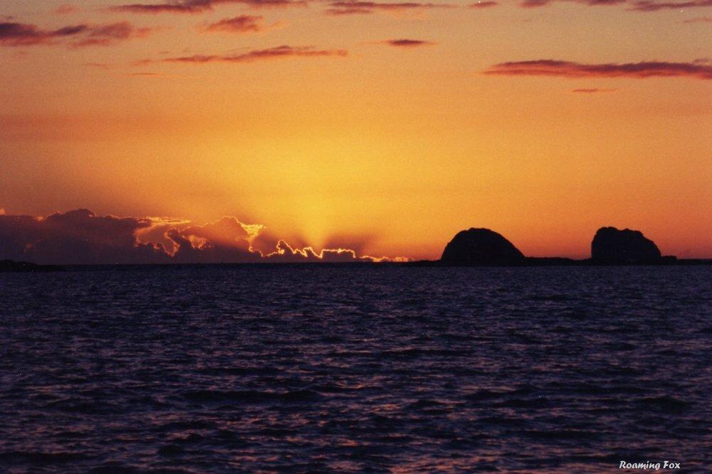 Sunset Three Sisters Nosy Tsarabanjina Madagascar