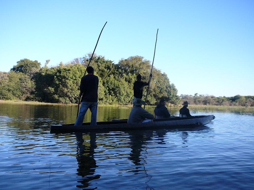 Floating on the Okavango