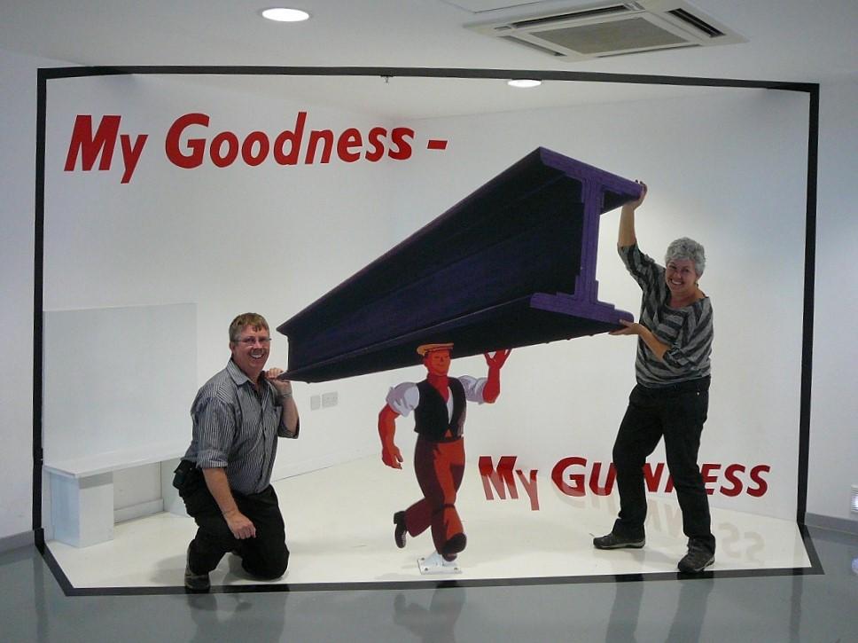 Having fun at Guinness