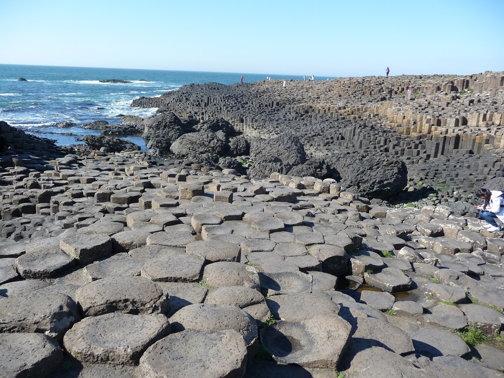 Amazing phenomenon - interlocking basalt columns at Giant's Causeway