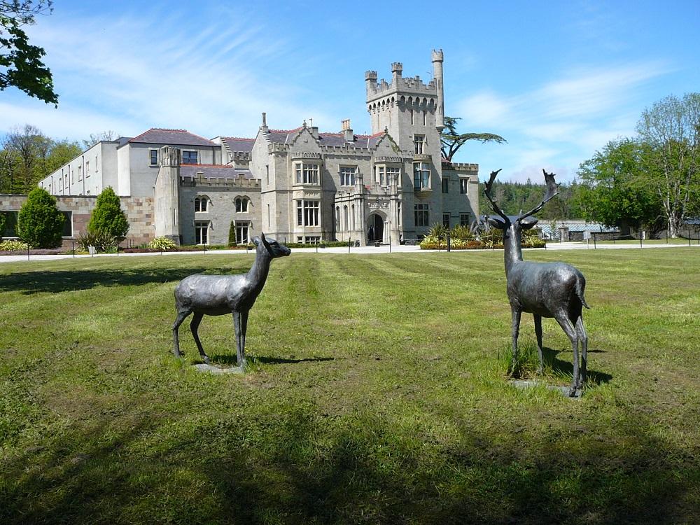 RF Donegal Castle and deer sculptures.JPG