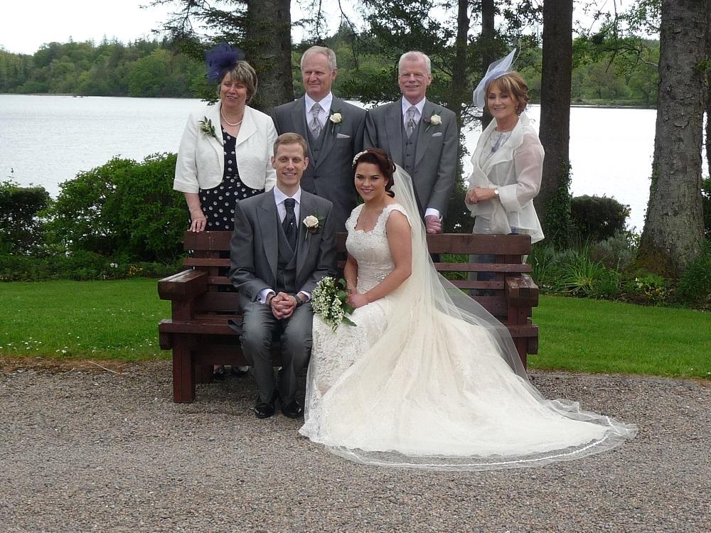 The Bride, groom & respective parents
