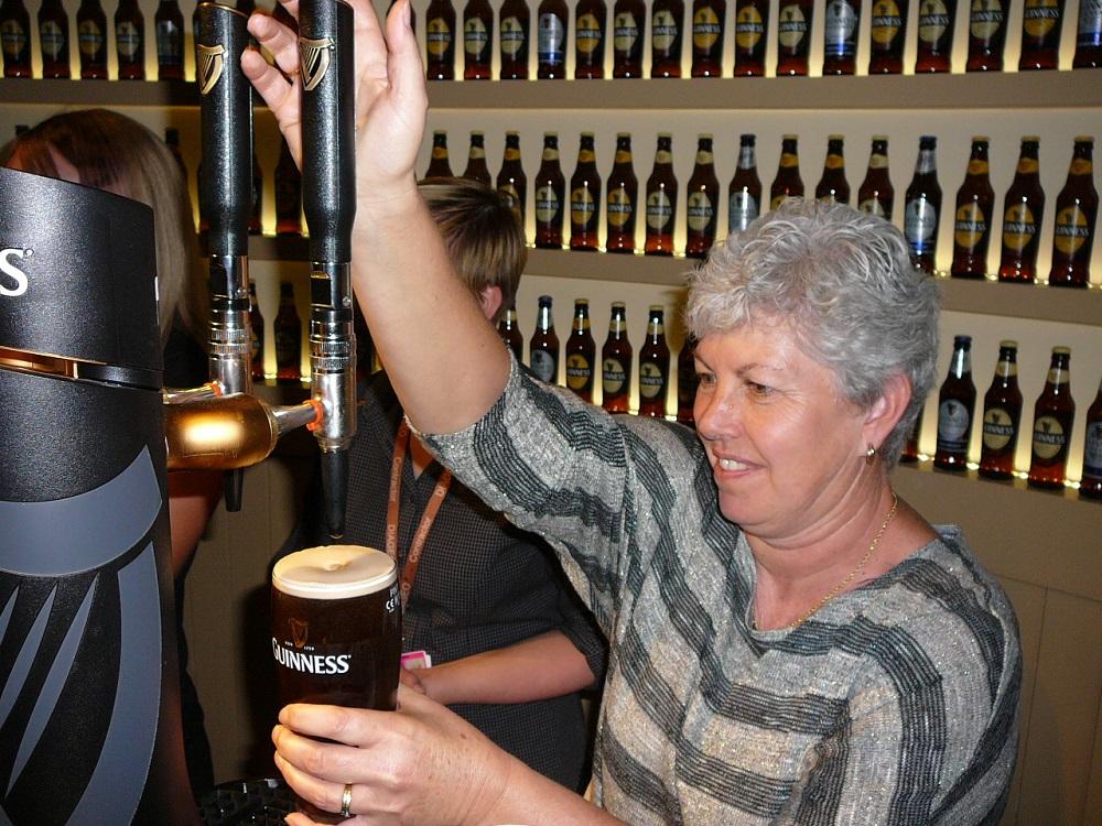 RF Pulling a pint of Guinness Dublin Ireland