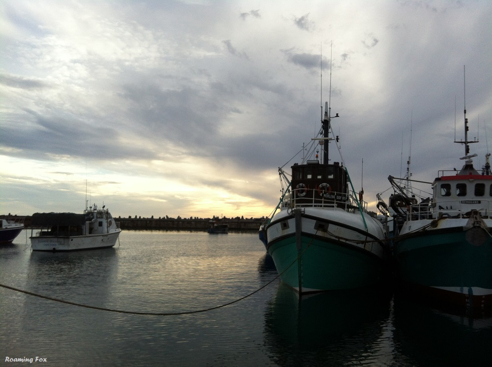 Fishing trawlers in the new harbour in Gansbaai
