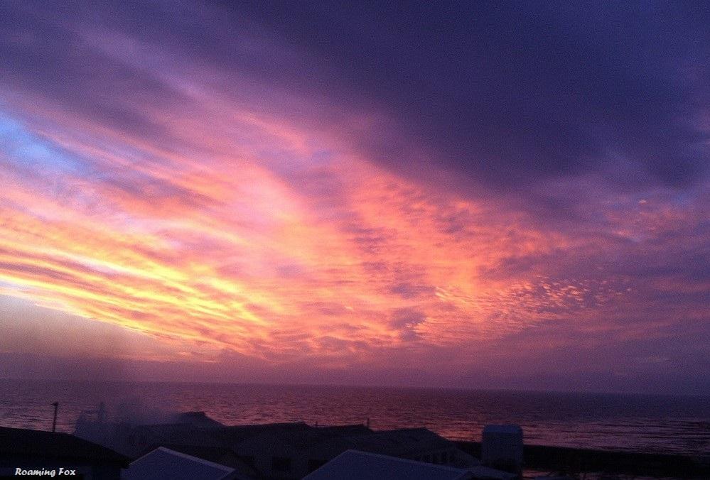 A Gansbaai sunset over Walker Bay