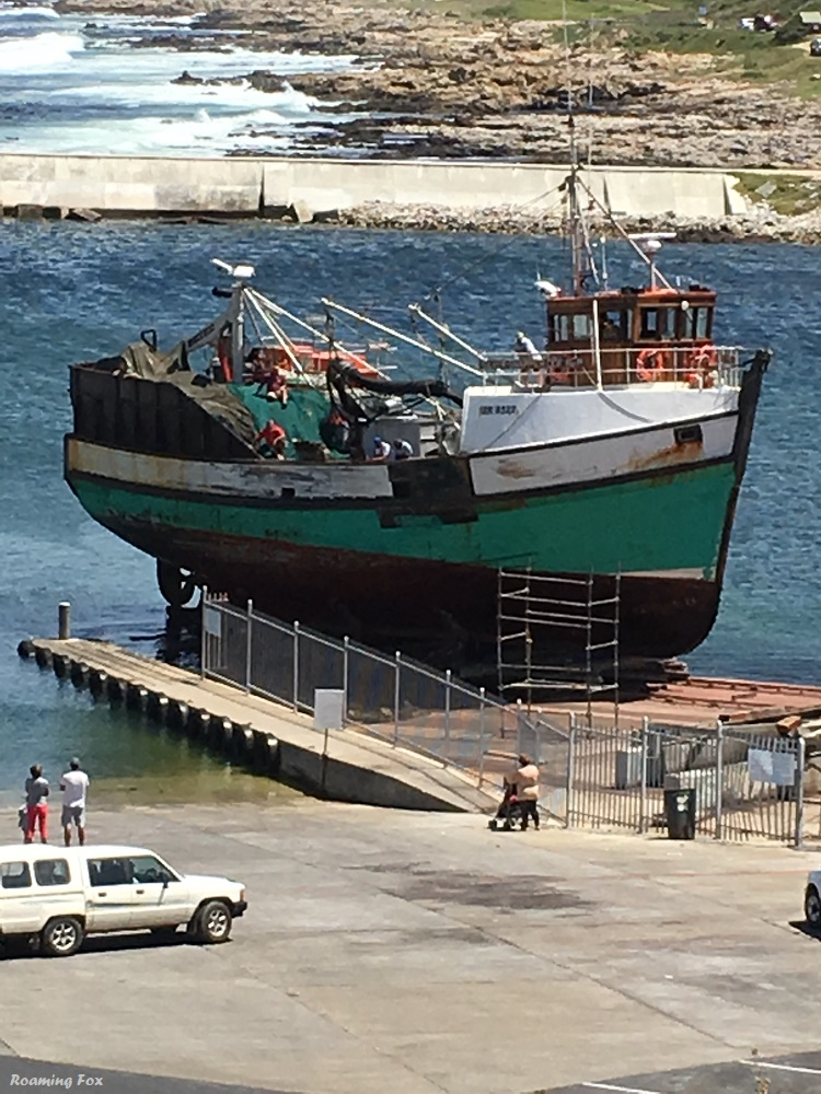 Wooden fishing trawlers are regularly maintained and repaired