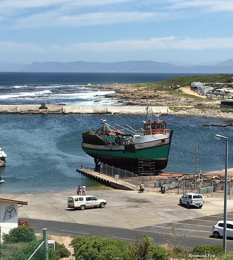Fishing boat preparing to leave dry dock after repairs 4.JPG