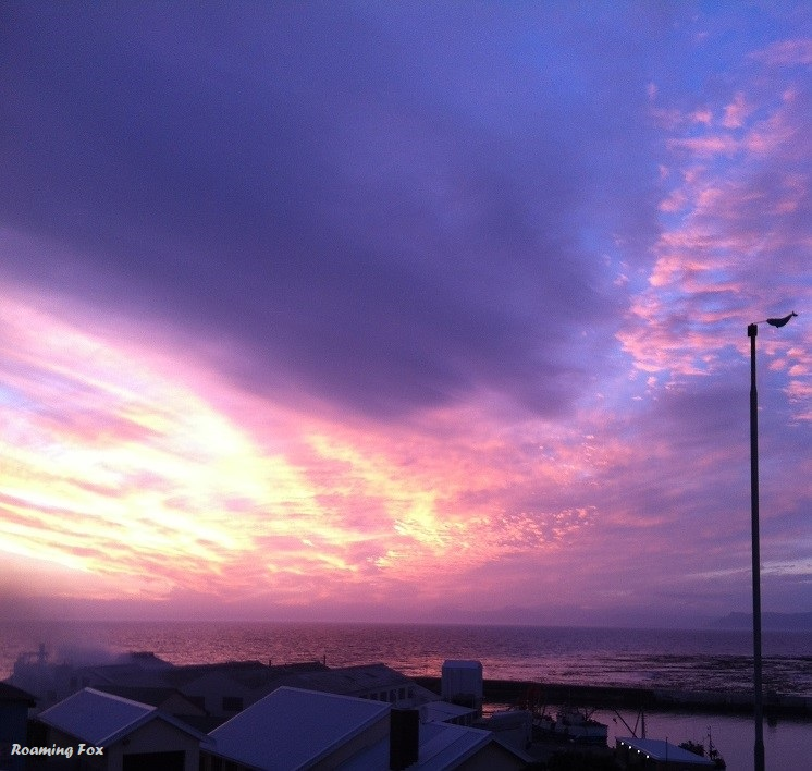 Gansbaai produces spectacular sunsets over the sea