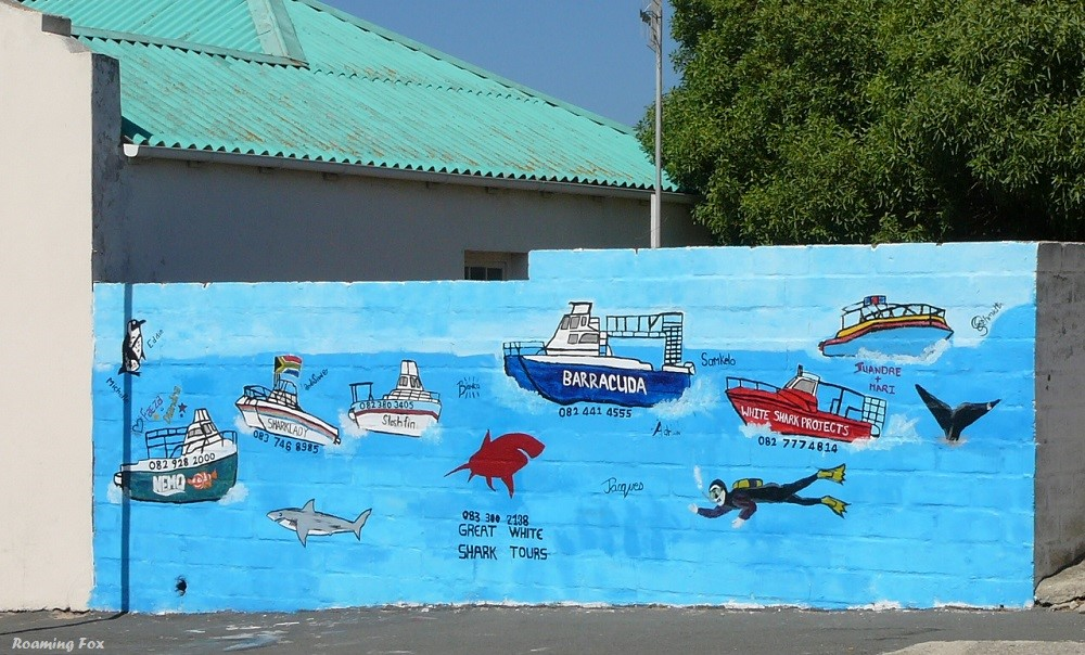 Street art depicting some activities in Gansbaai and surrounding areas