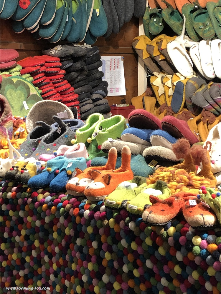 Cute woollen house shoes or slippers