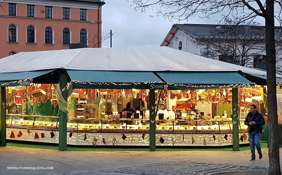 Food stall at Viktualienmarkt
