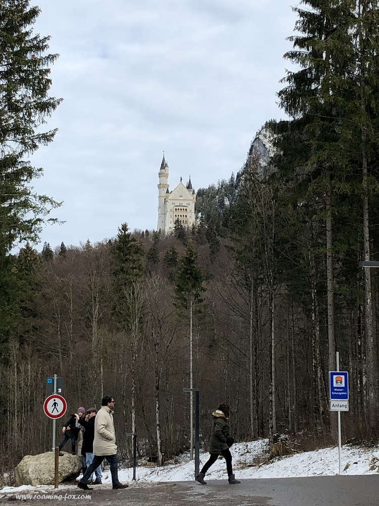Walking up to Schloss Neuschwanstein.JPG