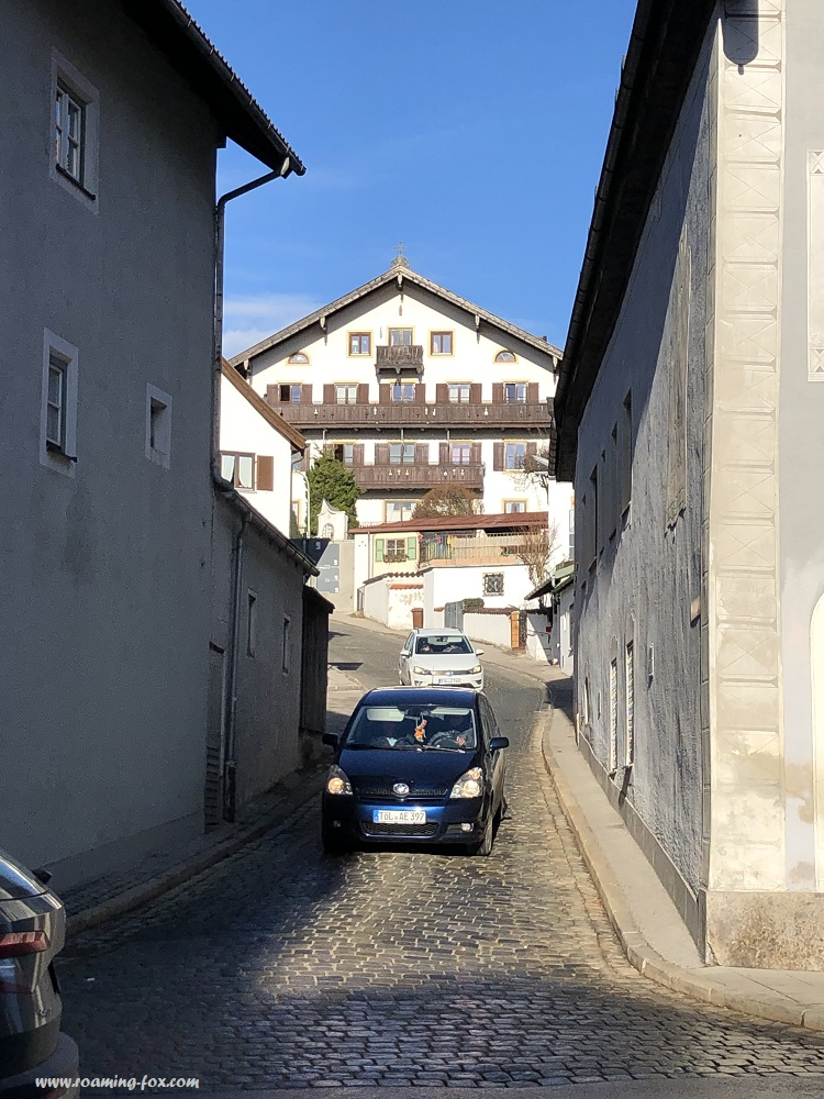 Narrow roads in the pretty town of Bad Tölz