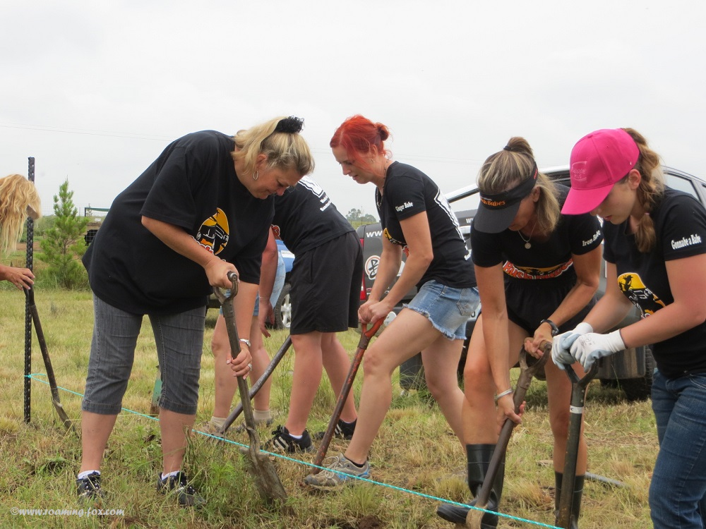 Bush Babes making a difference by digging trenches
