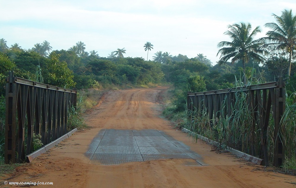 Metal bridge Mozambique.