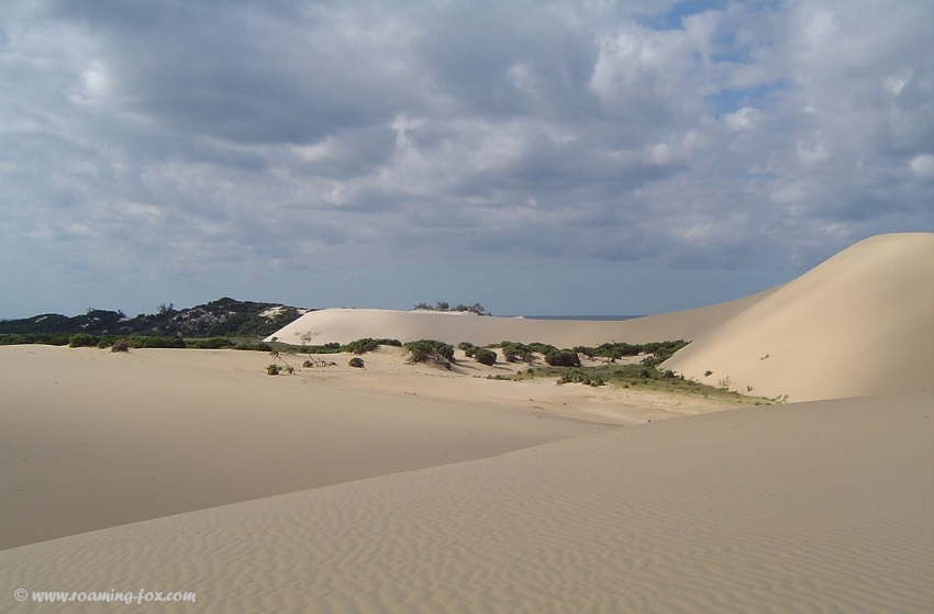 Bazaruto Island - huge sand dunes