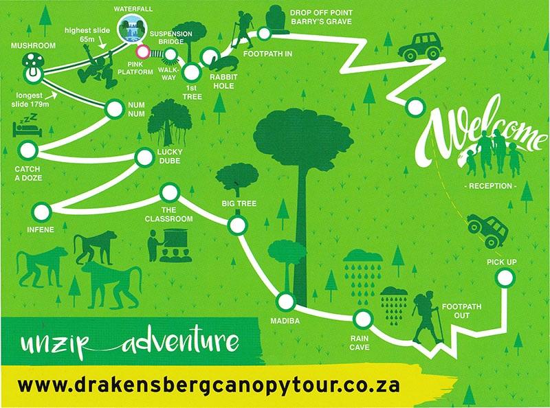 Unzip adventure at Drakensberg Canopy Tour