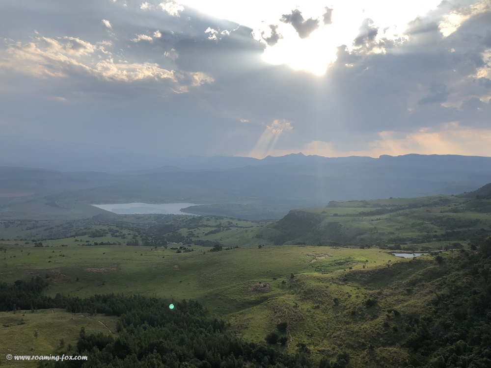 Valley below the escarpment at Drakensberg Mountain Retreat