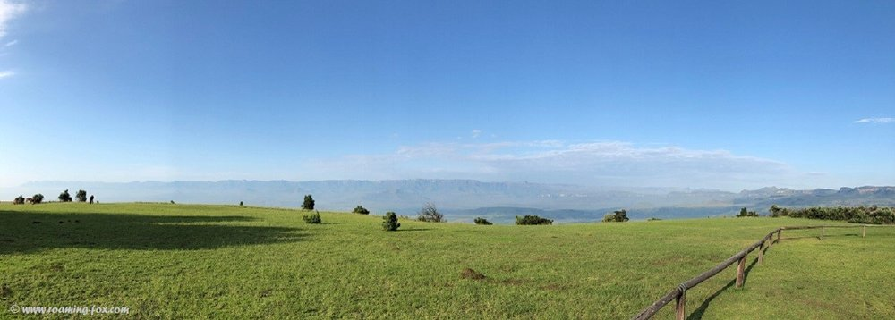 Magnificent panoramic view of a large portion of the Drakensberg