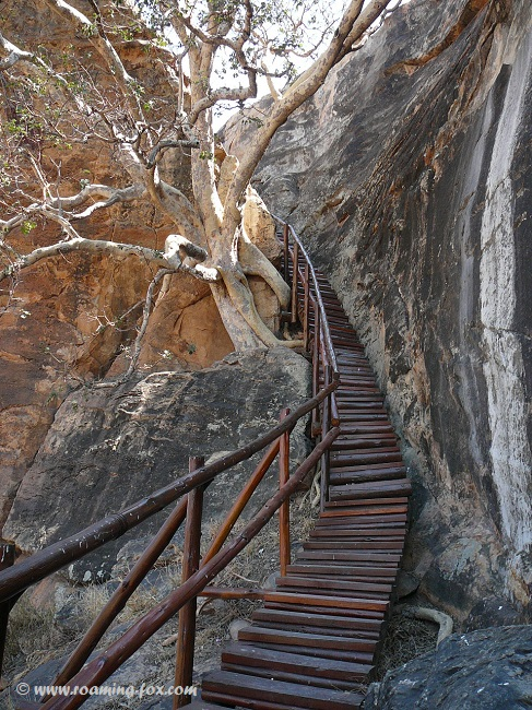 Steps leading up to the top of Mapungubwe Hill