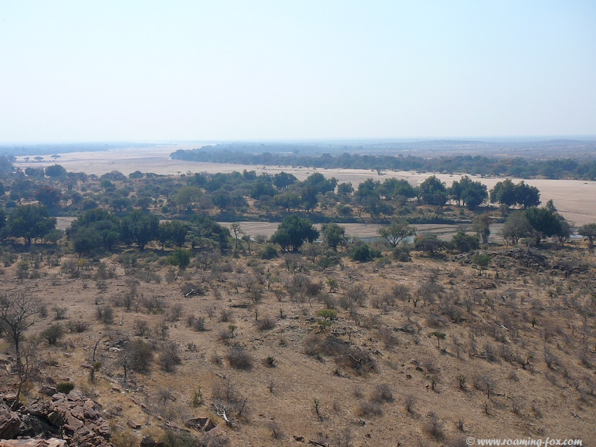 Confluence of Shashe and Limpopo rivers - dry river bed