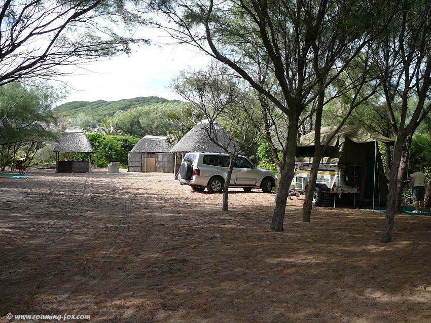Camp on top of sand dune Zavora