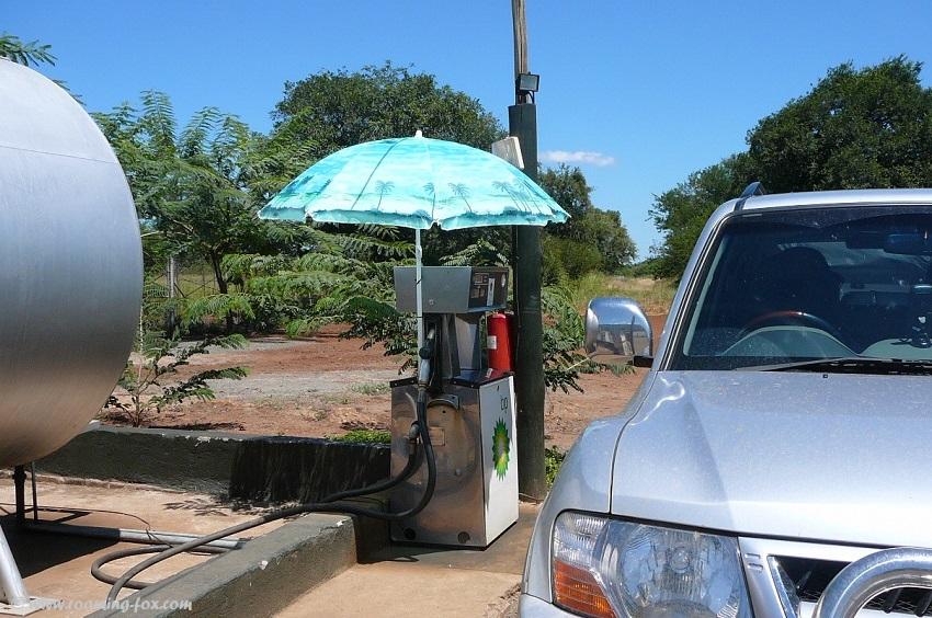Filling up with fuel at Komatipoort