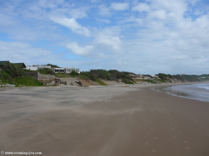 Sand blowing on beach Zavora