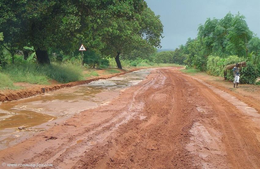 Muddy slippery clay