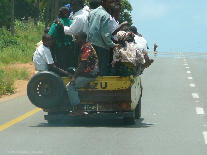 Heavily loaded vehicle Mozambique