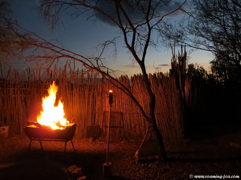 Campfire in the Boma