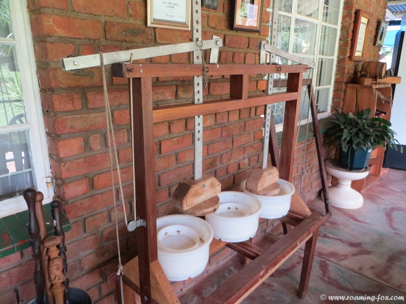 Cheese press at Geluksfontein