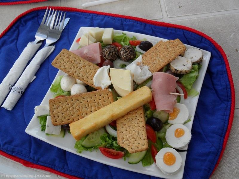 Goat's cheese platter