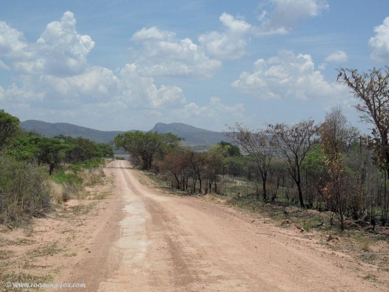 Gravel road going to Marakele
