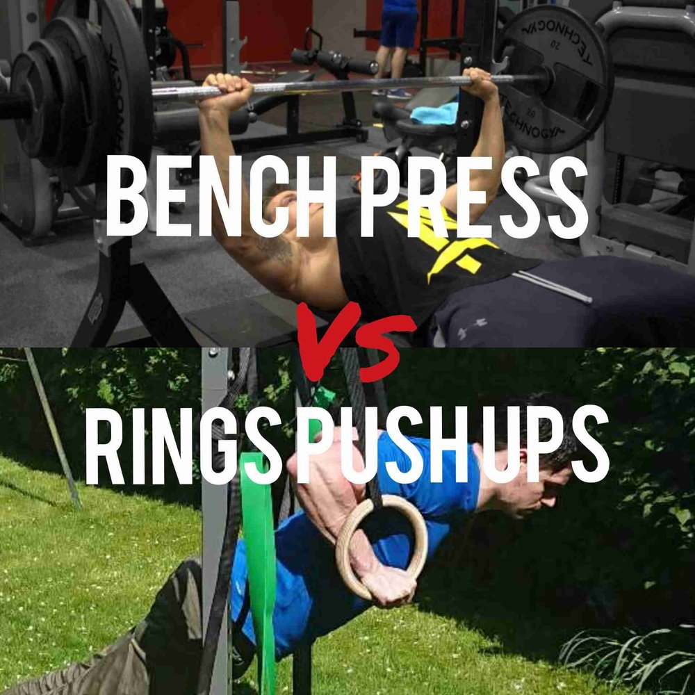 Ring Push ups vs Bench Press, which is the better exercise