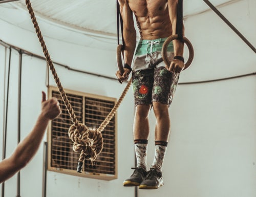 Support Hold on Gymnastic Rings