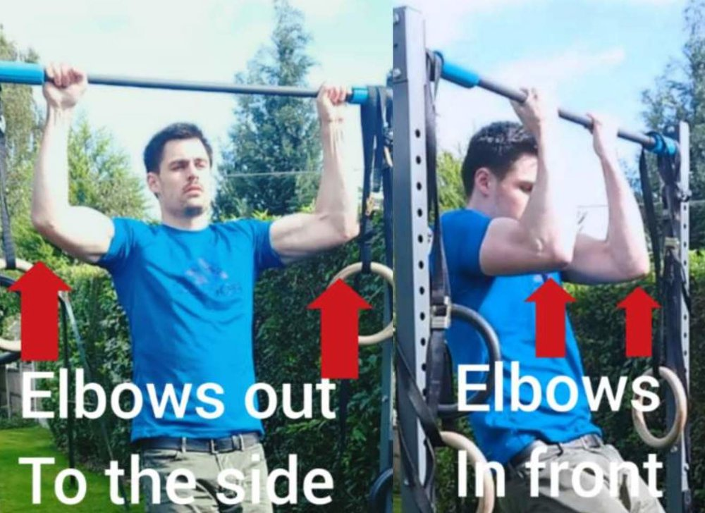 A key difference between a pull up and chin up is where your arms are position. This has a profound effective on which muscles are emphasised with each exercise.