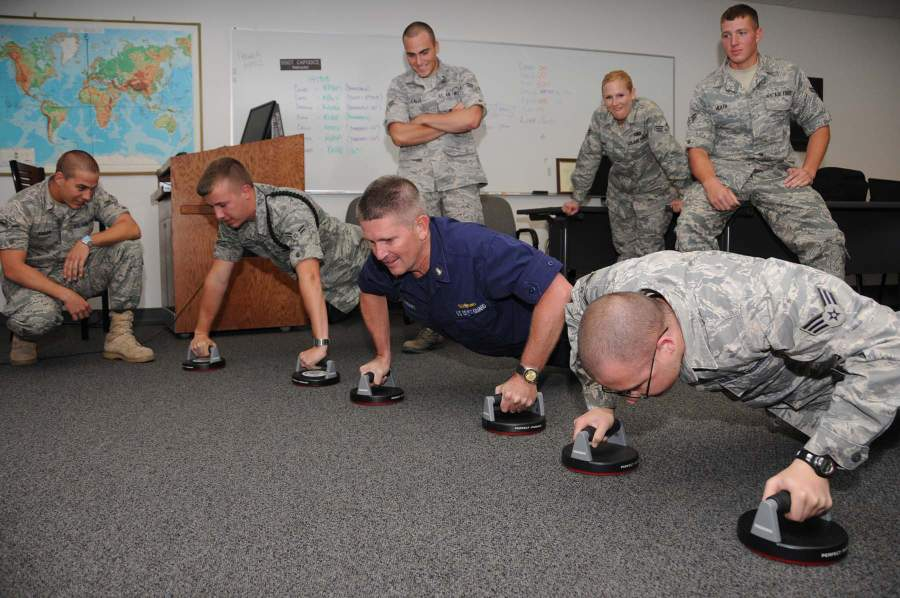 The 'Perfect Push up V2' being used by the US military.
