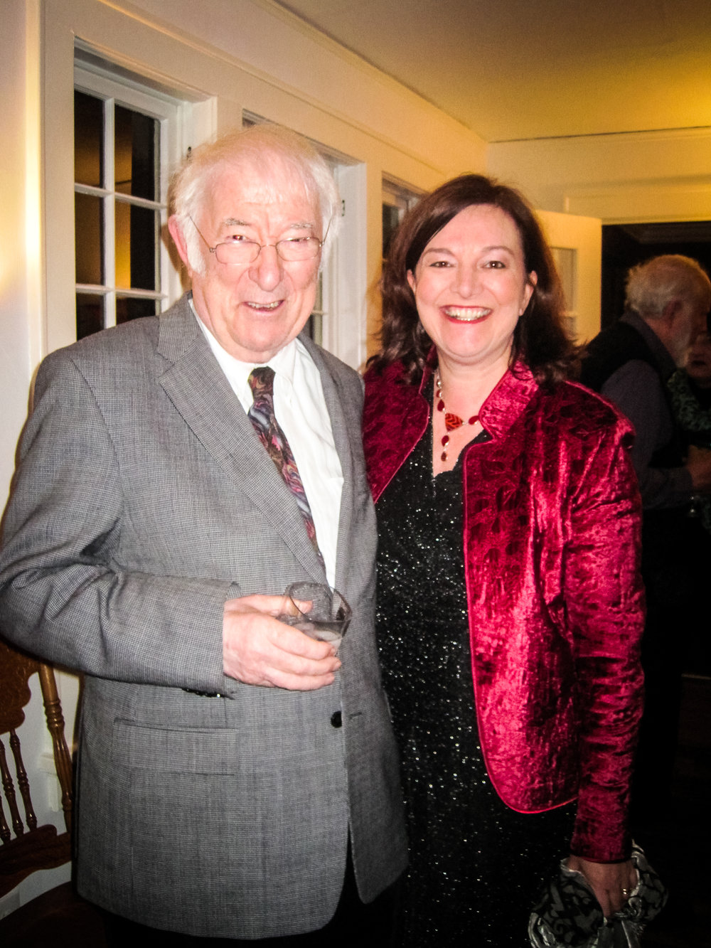 Seamus Heaney and Geraldine Higgins in Atlanta, 2013.