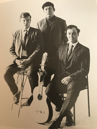 Michael Longley, Seamus Heaney and David Hammond on the Room to Rhyme tour, May 1968.
