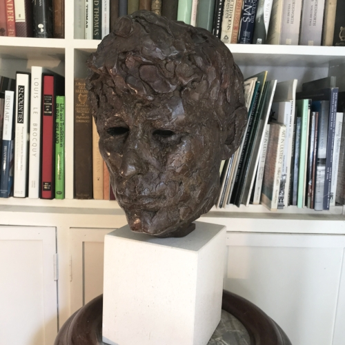 Carolyn Mulholland's portrait head of Seamus Heaney