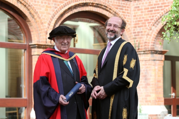 Seamus Heaney and Professor Brian MacCraith at DCU, May 2011.